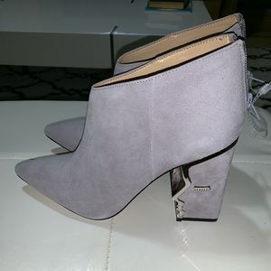 Katy Perry collection grey microfiber boots size 8